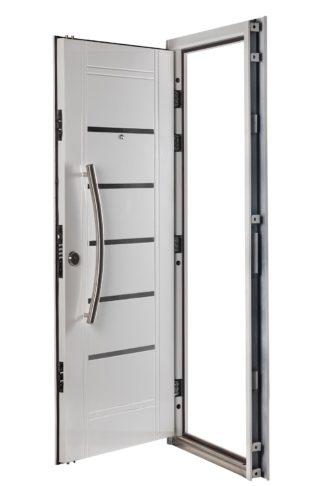 Puerta Multianclaje Derecha BLANCA Barral CURVO 75 cm y Apliques B4510D