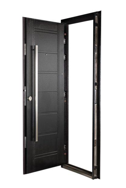Puerta Multianclaje Derecha NEGRA Barral RECTANGULAR 120 cm.N4810D