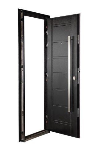 Puerta Multianclaje Izquierda NEGRA Barral RECTANGULAR 120 cm. N4810I