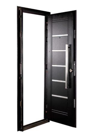 Puerta Multianclaje Izquierda NEGRA Barral RECTANGULAR 75 cm y Apliques N4610I