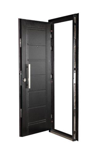 Puerta Multianclaje Derecha NEGRA Barral RECTANGULAR 40 cm. N4910D