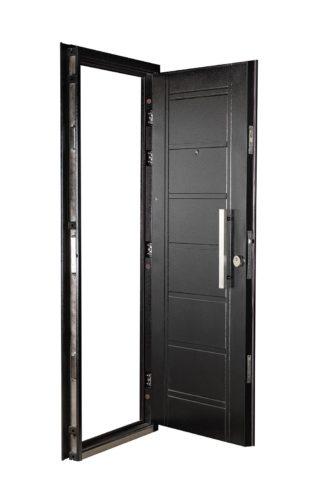 Puerta Multianclaje Izquierda NEGRA Barral RECTANGULAR 40 cm. N4910I