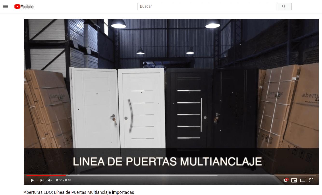 videos de puertas multianclaje