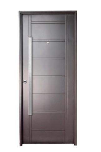 Puerta Iny NEGRA Derecha BUÑAS barral RECTANGULAR 120 cm Ciega N1810D