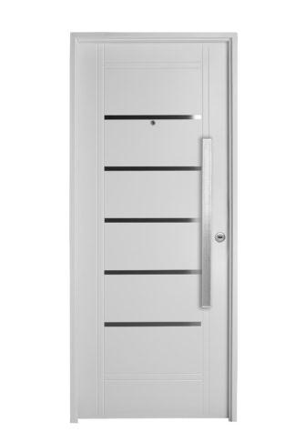 Puerta Iny BLANCA Izquierda Insertos de ACERO barral RECTANGULAR 75 cm Ciega B2610I