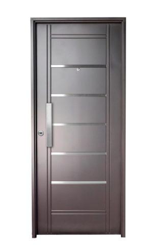 Puerta Iny NEGRA Derecha Insertos de ACERO barral RECTANGULAR 40 cm Ciega N2910D