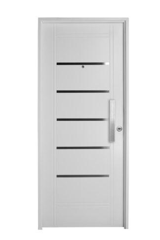 Puerta Iny BLANCA Izquierda Insertos de ACERO barral RECTANGULAR 40 cm Ciega B2910I