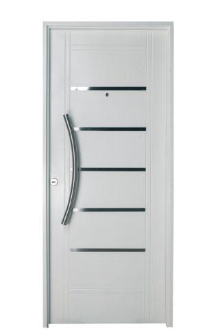 Puerta Iny NEGRO Derecha Insertos de ACERO barral CURVO Ciega N2510D