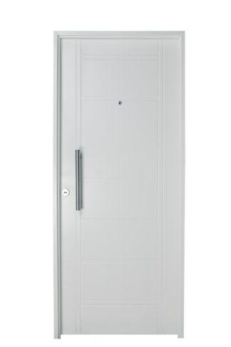 Puerta Iny BLANCA Derecha BUÑAS barral REDONDO 40 cm Ciega B1310D