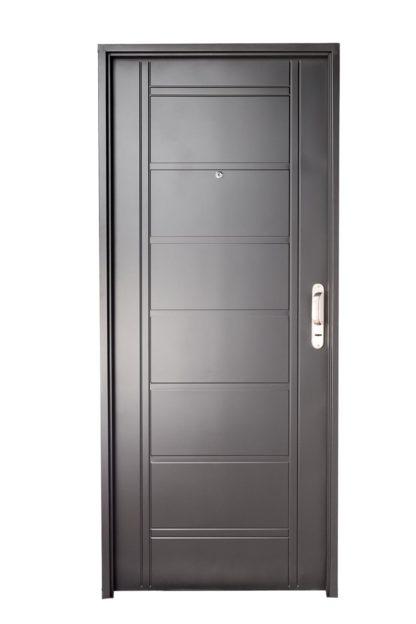 Puerta Iny NEGRA Izquierda BUÑAS manijón aluminio Ciega N1110I