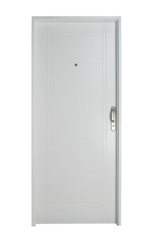 Puerta Iny BLANCA Izquierda BUÑAS manijón aluminio Ciega B1110I