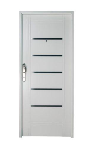 Puerta Iny BLANCA Derecha Insertos de ACERO manijón 300 mm Ciega B2210D