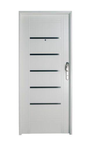 Puerta Iny BLANCA Izquierda Insertos de ACERO manijón 300 mm Ciega B2210I