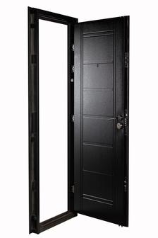 Puerta Multianclaje NEGRA con Picaporte Doble IZQ N-4712