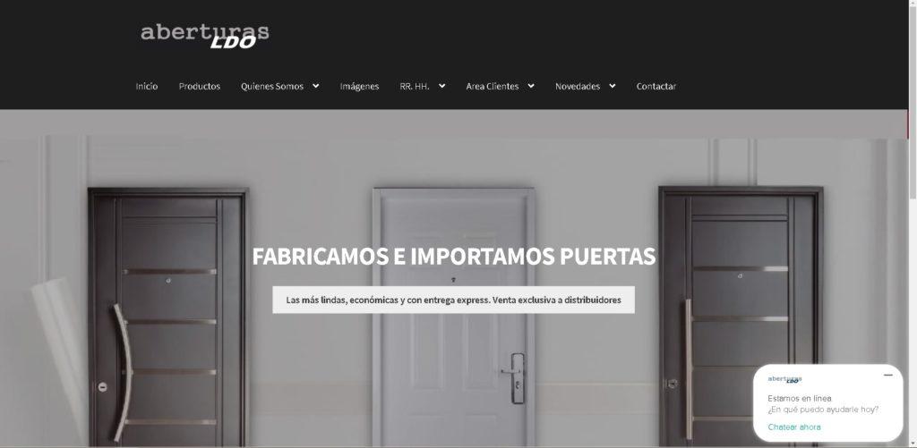 nueva pagina web ldo aberturas