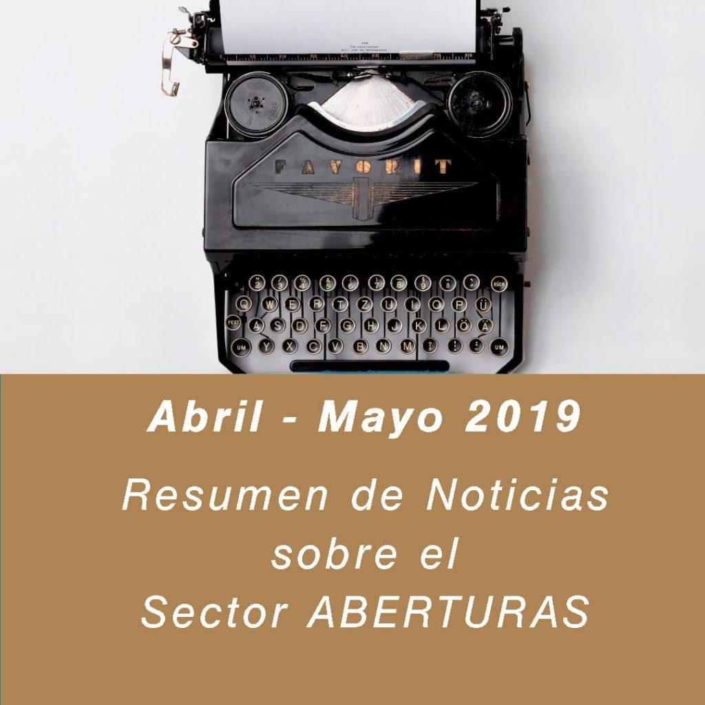 noticias sobre puertas y ventanas abril mayo 2019