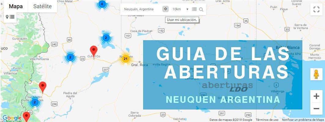 portada de mapa geolocalizado aberturas en Neuquen