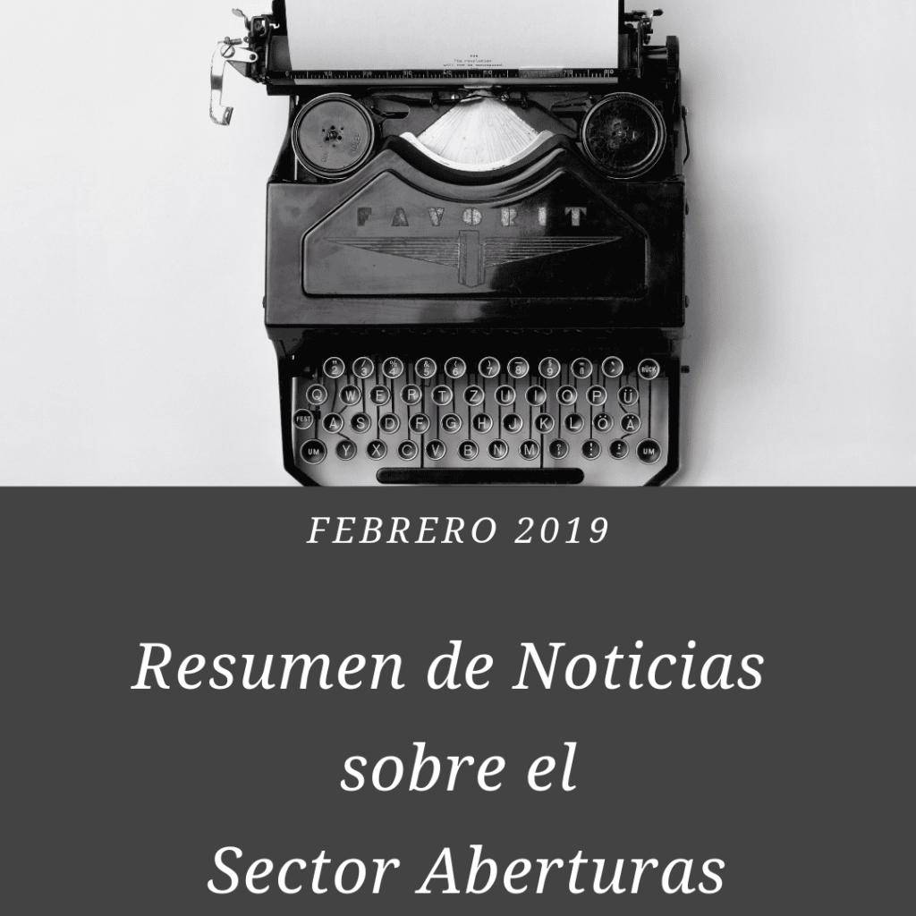 resumen de noticias sobre el sector aberturas ldo Febrero 2019